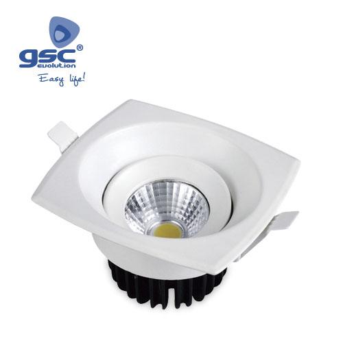 Aro basculante cuadrado 9w COB LED